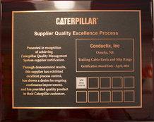 Caterpillar Supplier Quality Excellence Process (SQEP) Award