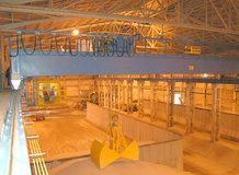 2 Process-Overhead Cranes in a nitrogen fertilizer warehouse