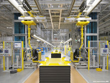 Energy Guiding Chains and IPT Rail System are used at a assembly line