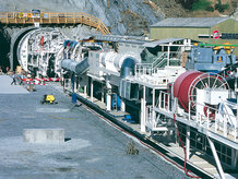 Motorized Cable Reels in use on a Tunnel Drilling Machine